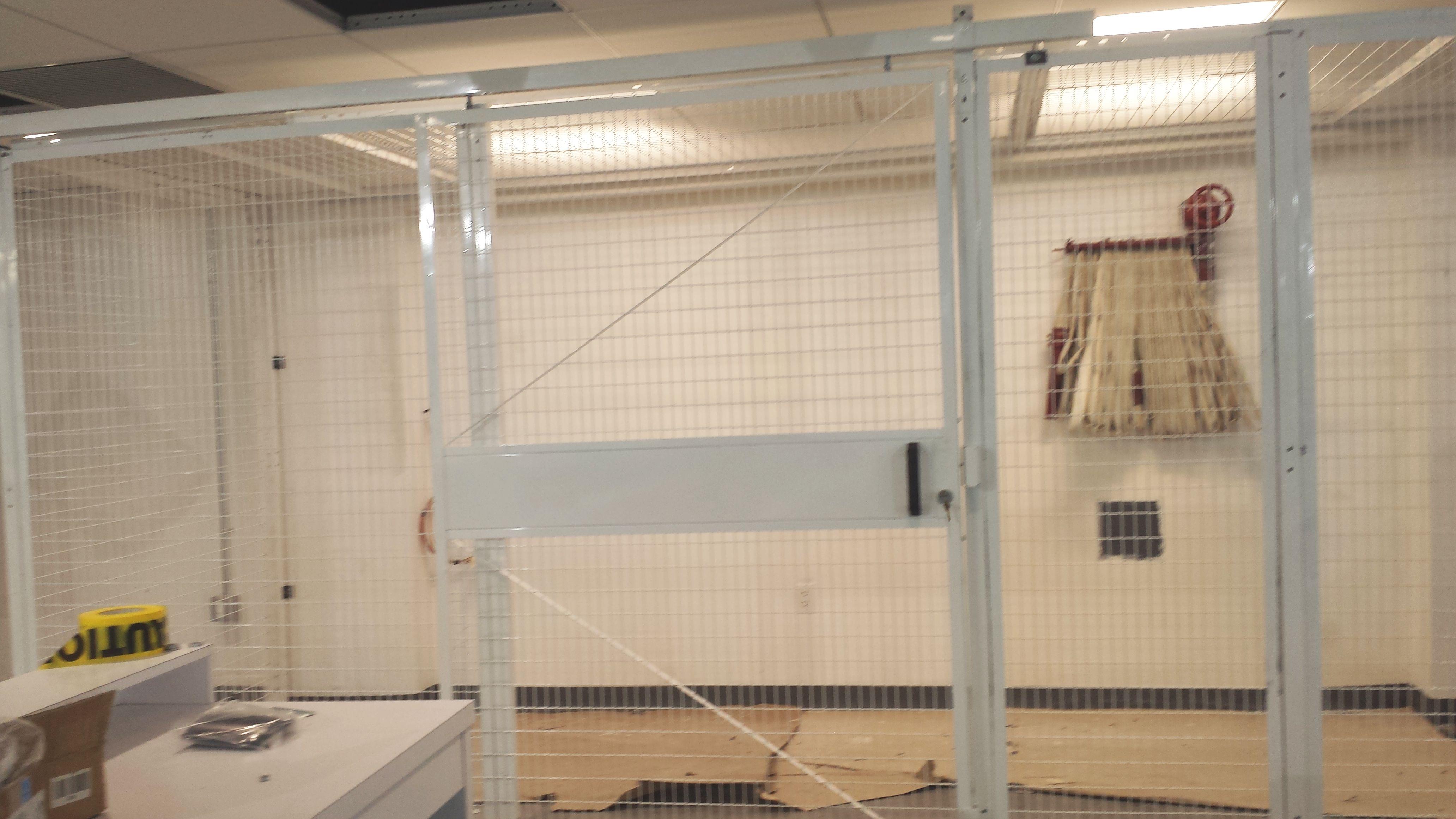 Welded Wire Security Cage Doors