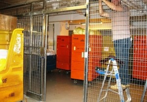 Woven Wire Security Cage. Free on site layouts and quote. Professional Installations. 5 Year Warranty. Sales@LockersUSA.com or P(917)837-0032