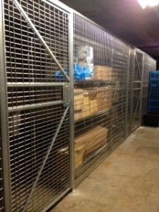 Wire Partition Cages Hoboken