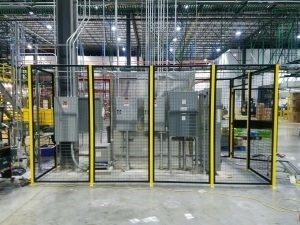 Safety Fence In Daytona. Widely Used For OSHA Compliant Enclosures For  Equipment And Machine Guarding. Sales@LockersUSA.com
