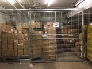Wire mesh security cages NYC
