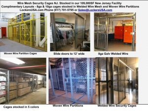 Wire Partition Security Cages NJ