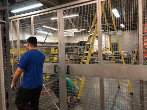 Welded wire security cage NJ