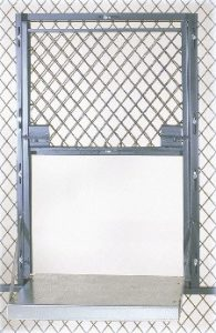 wire partition cage service window